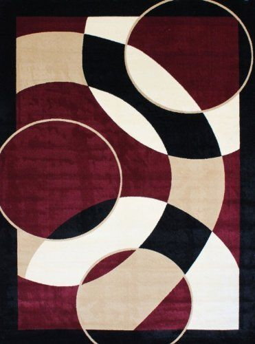 Avalon 1052 Burgundy 8x11 Area Rugs Modern Contemporary Abstract Black Ivory Beige Carpet By Persian