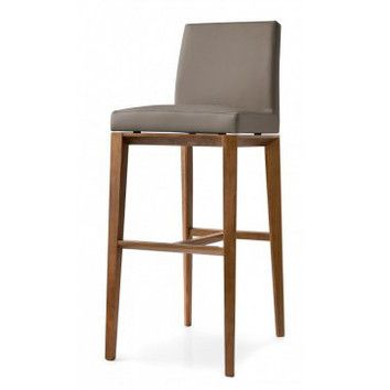Calligaris Bess 25 6 Quot Stool Graphite Finish And Taupe Or