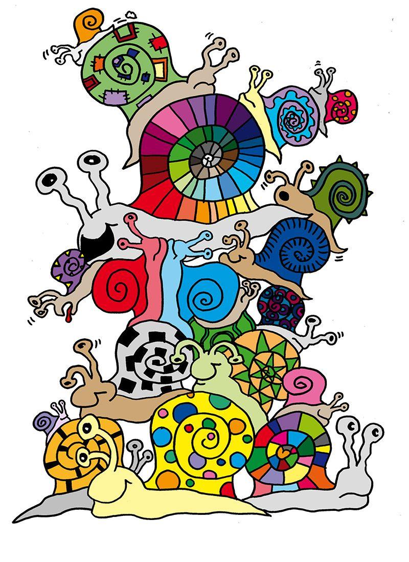 Schneckenturm als Ausmalbild für Kinder | Kinder kunst | Pinterest ...