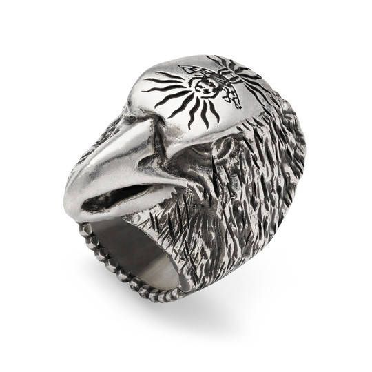 Gucci Mens Anger Forest Eagle-Head Ring LMbLyu66