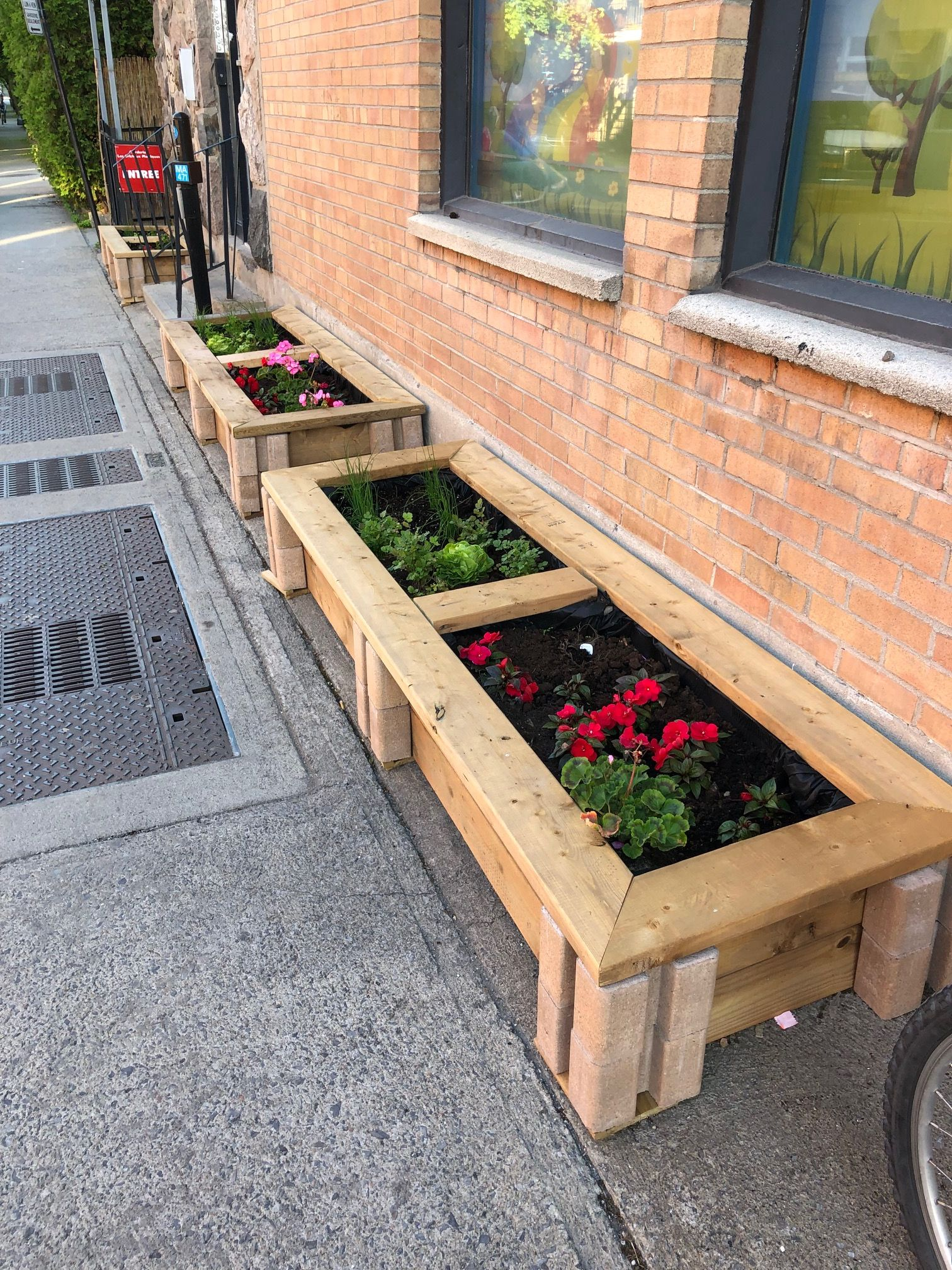 Raised Bed Garden made for a school using the Planter Wall