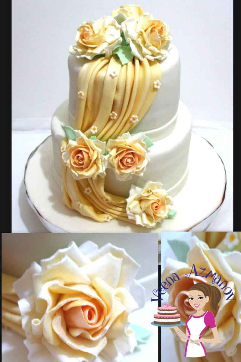Fondant drapes are the in thing on cakes now especially wedding ...
