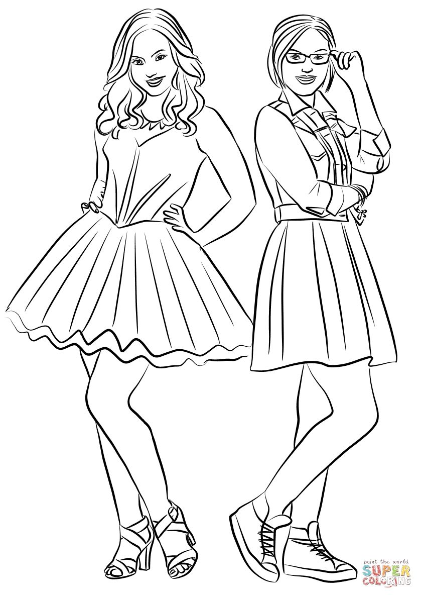 Liv And Maddie Coloring Pages To Print Liv And Maddie Coloring Pages To Print Coloring Pages