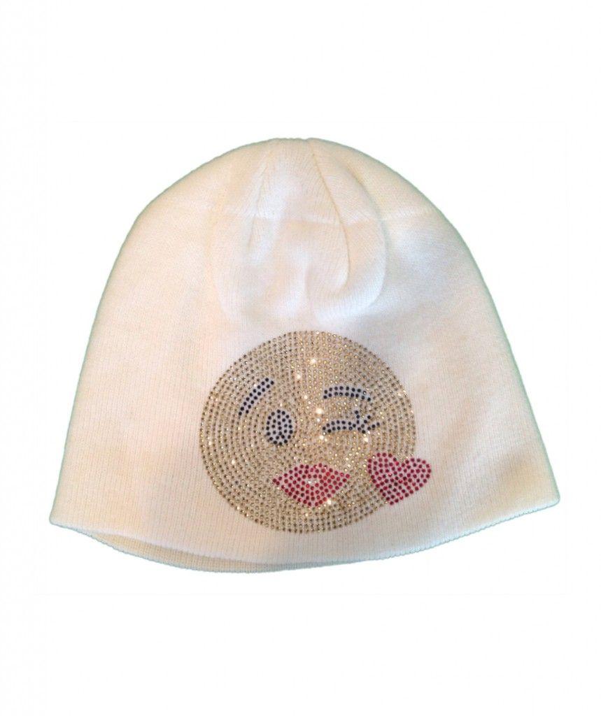 48e312da86b Emoji Heart Stretch Knit Winter Hat
