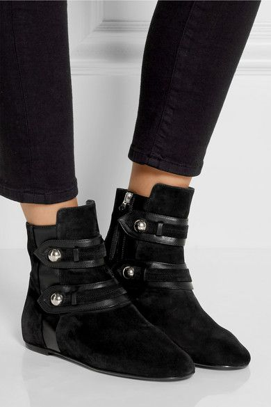 Isabel Marant - Roddy leather-trimmed suede ankle boots