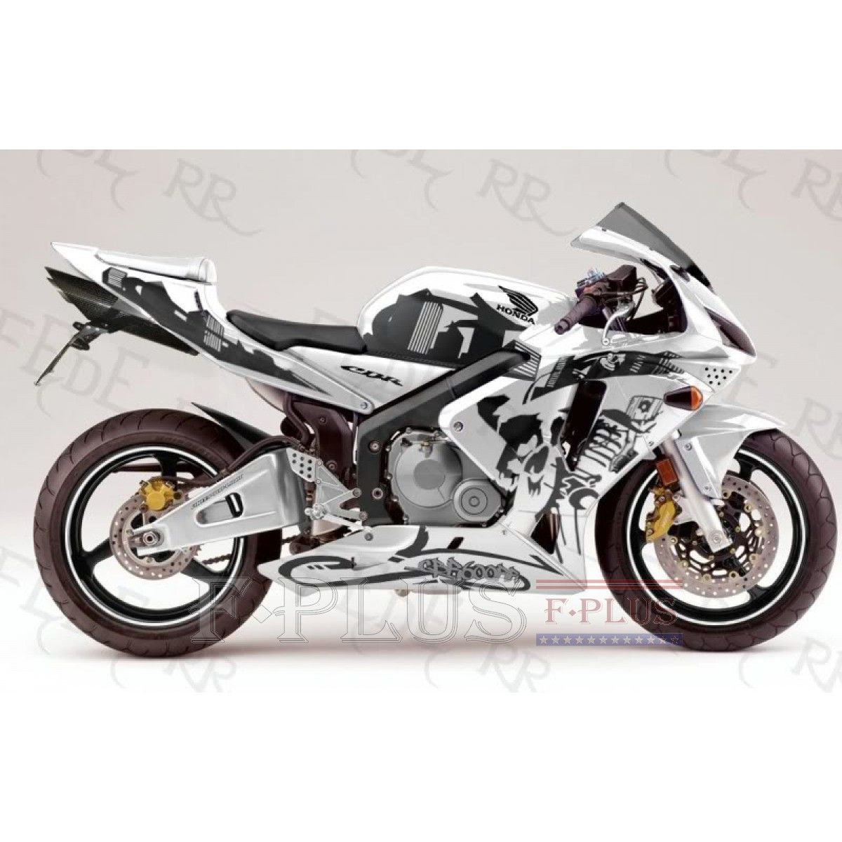 Aftermarket Fairings For Honda Cbr600rr 05 06 White Black Graffiti
