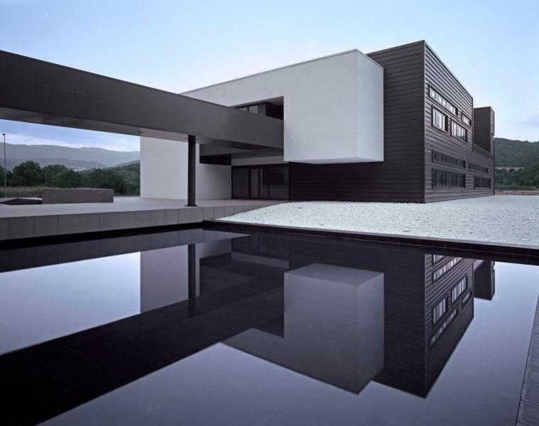 Minimalistische Häuser 24 Entwürfe von Architektur und