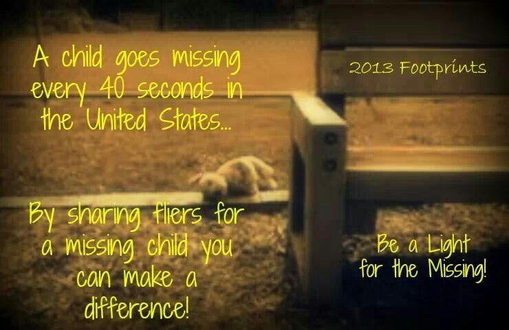 A child goes missing every 40 seconds in the U.S.