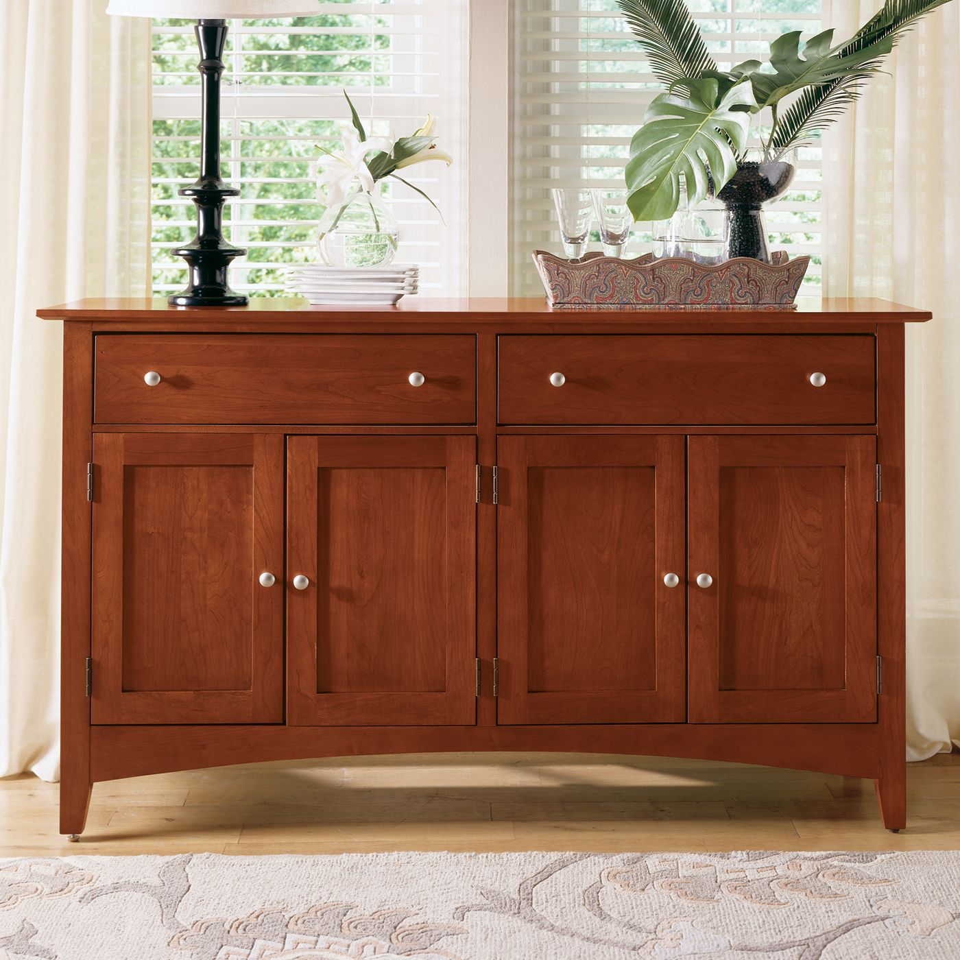 kincaid furniture 43 090 gathering house sideboard satin cherry