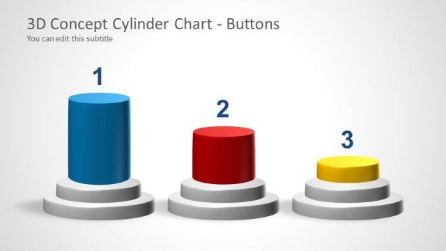 3D Cylinder Chart Concept for PowerPoint Chart, Data charts and - 3d powerpoint template