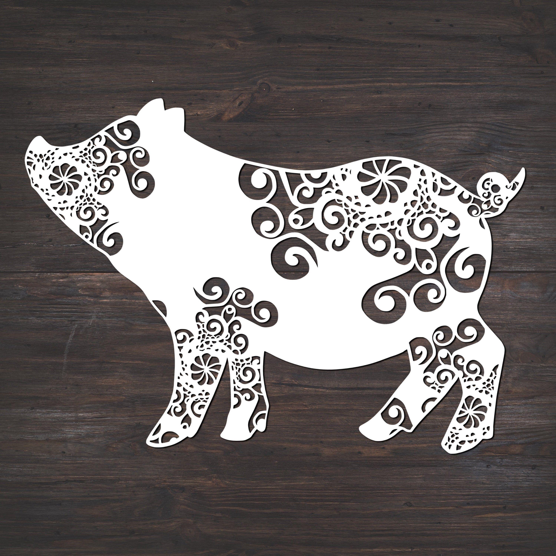 Download Pig Svg, Mandala Svg, Pig Mandala Svg | Baby pigs, Svg ...