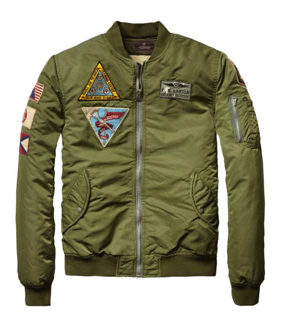 KHAKI & SURPLUS Army green bomber jacket, Bomber jacket