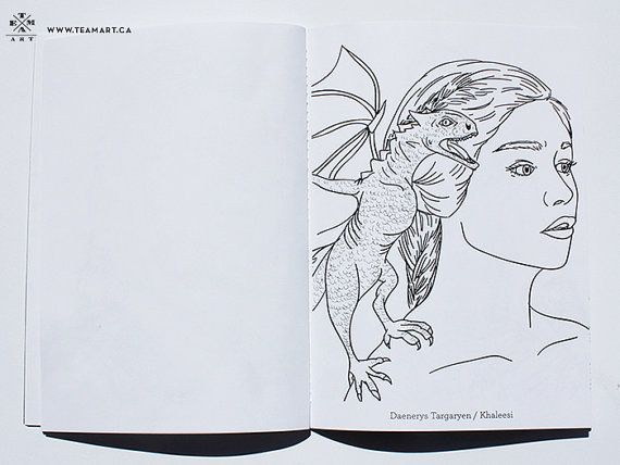 Game Of Thrones A Colouring Book 5 X 7 In By TeamArt On Etsy