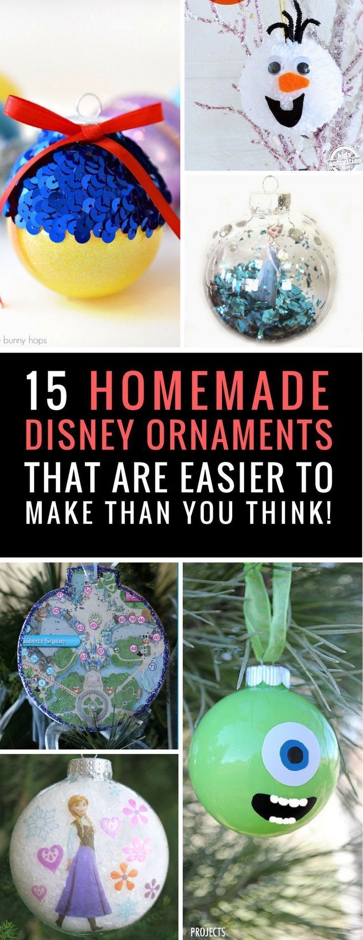 15 Fabulous Diy Disney Inspired Ornaments To Bring Some Magic To Your Christmas Tree Disney Christmas Diy Disney Ornaments Diy Disney Christmas Tree Theme