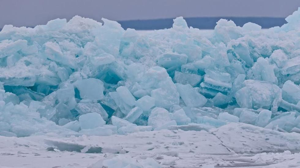 Fuel Tanker Breaks Through Ice Road In Canada Days After Authorities Increased Weight Limit Mackinac Bridge Mackinaw City Mackinac