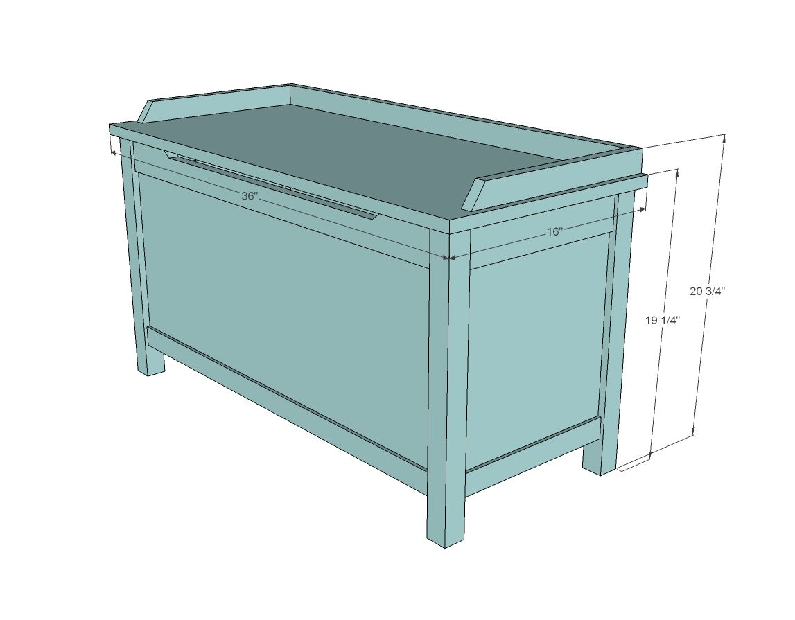 Ana white build a simple modern toy box with lid free for Toy plans