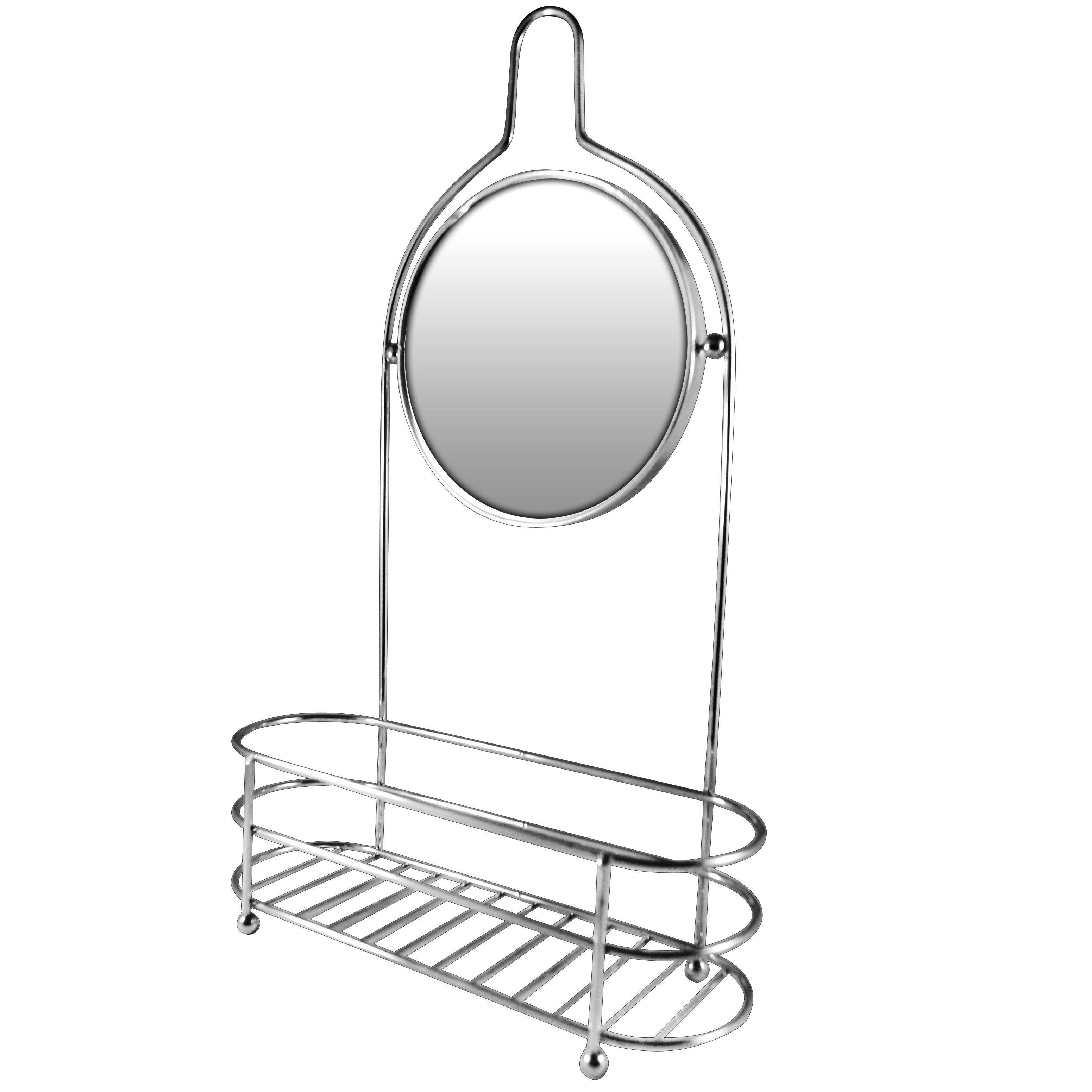 Shower Organizer With Round Fog-free Mirror | Products | Pinterest ...