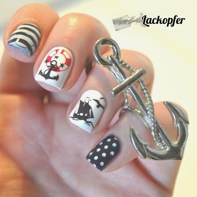 rainpow nails maritim ahoi stamping nails pinterest ahoi nails und maritim. Black Bedroom Furniture Sets. Home Design Ideas