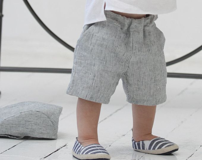 c6317e913 Baby boy shorts Toddler boys pants Linen shorts Ivory Linen pants Boys  trousers Summer pants Boys clothes Diaper cover Ring bearer shorts