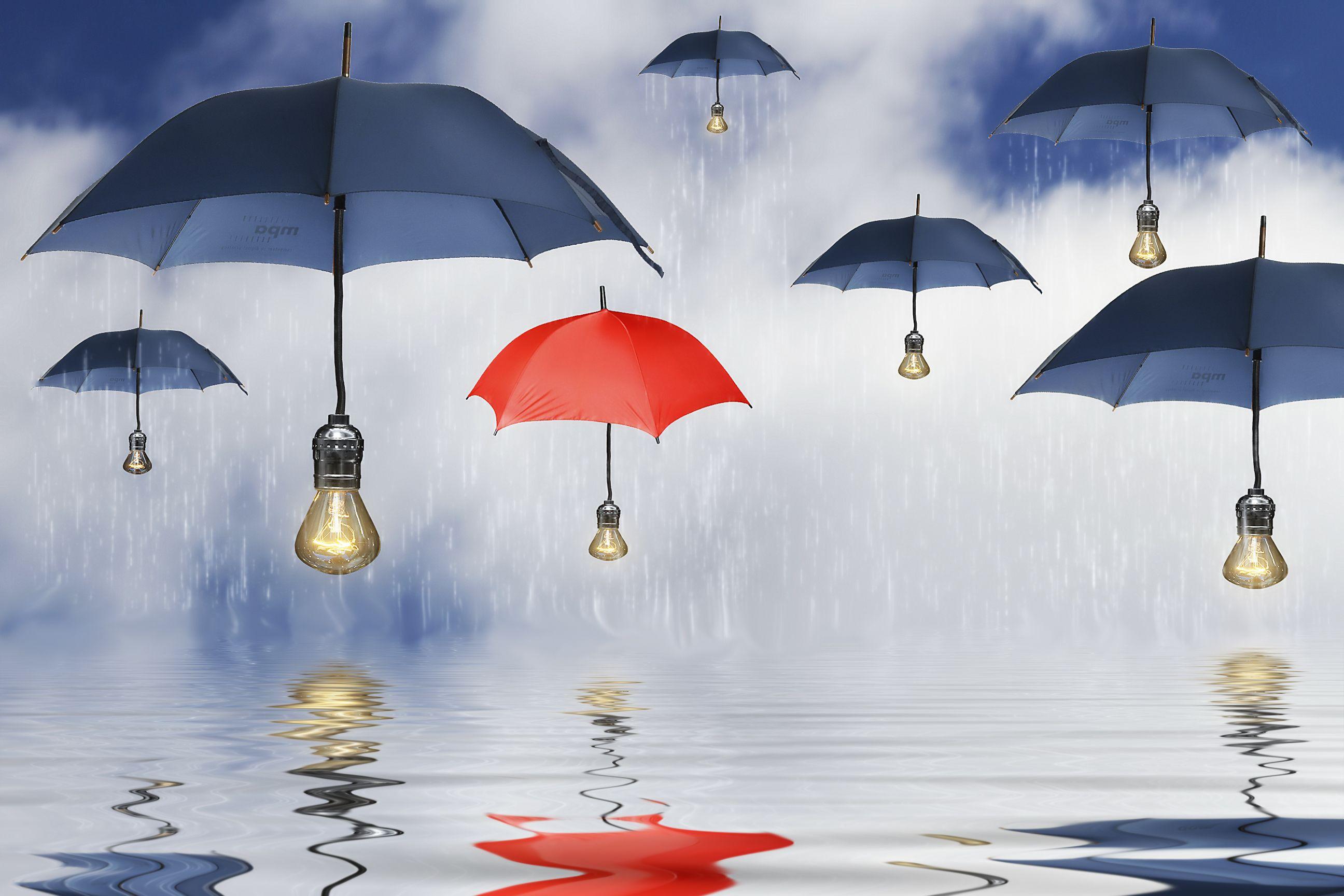 Room umbrellas romantic rain girl white dress clouds for Architecture upbrella