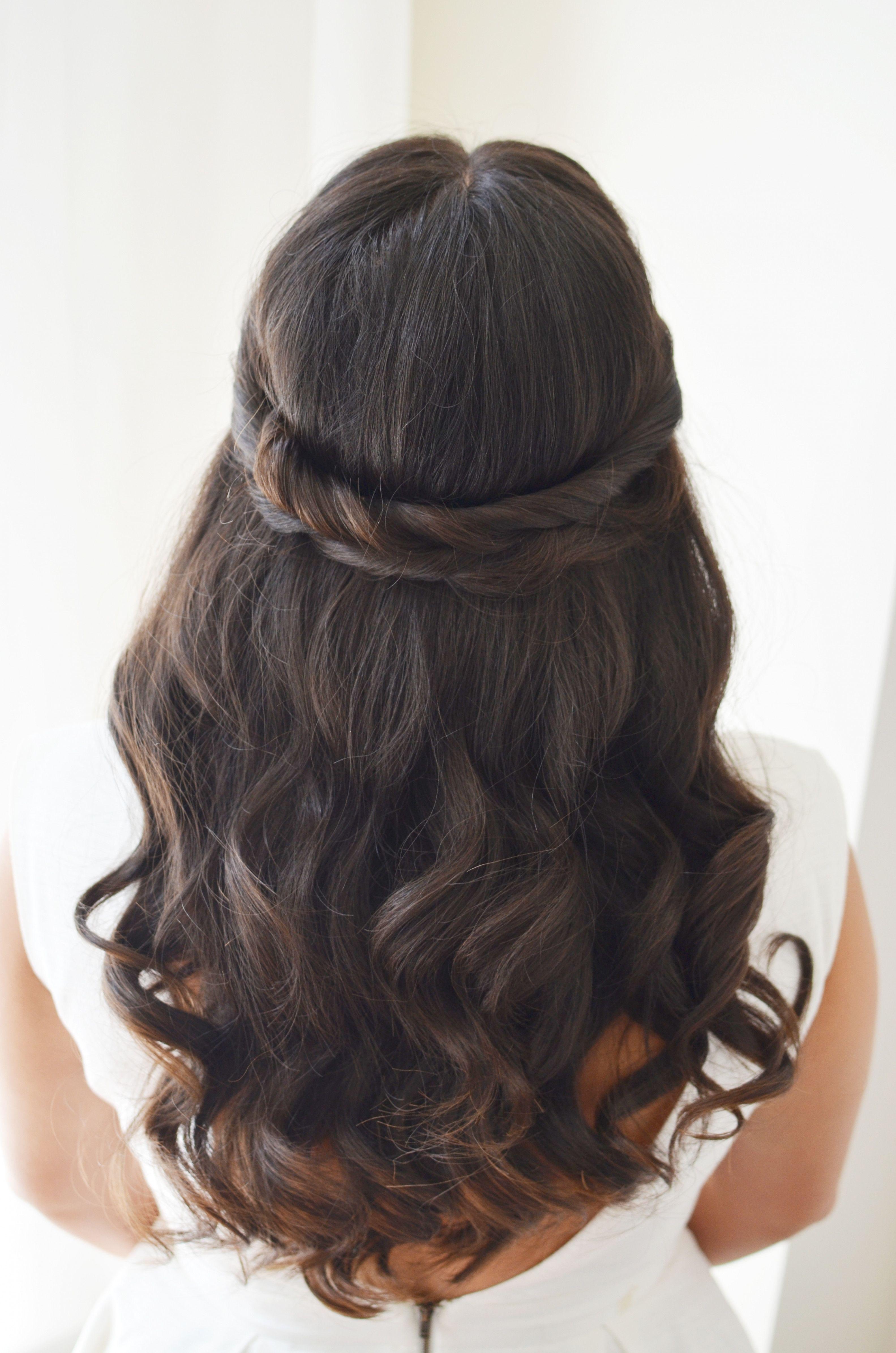 wedding hairstyles brown half up | hair ideas! | wedding