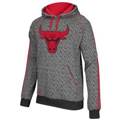 new concept 861fa 360ba Chicago Bulls adidas Static Print Hooded Sweatshirt  69.99