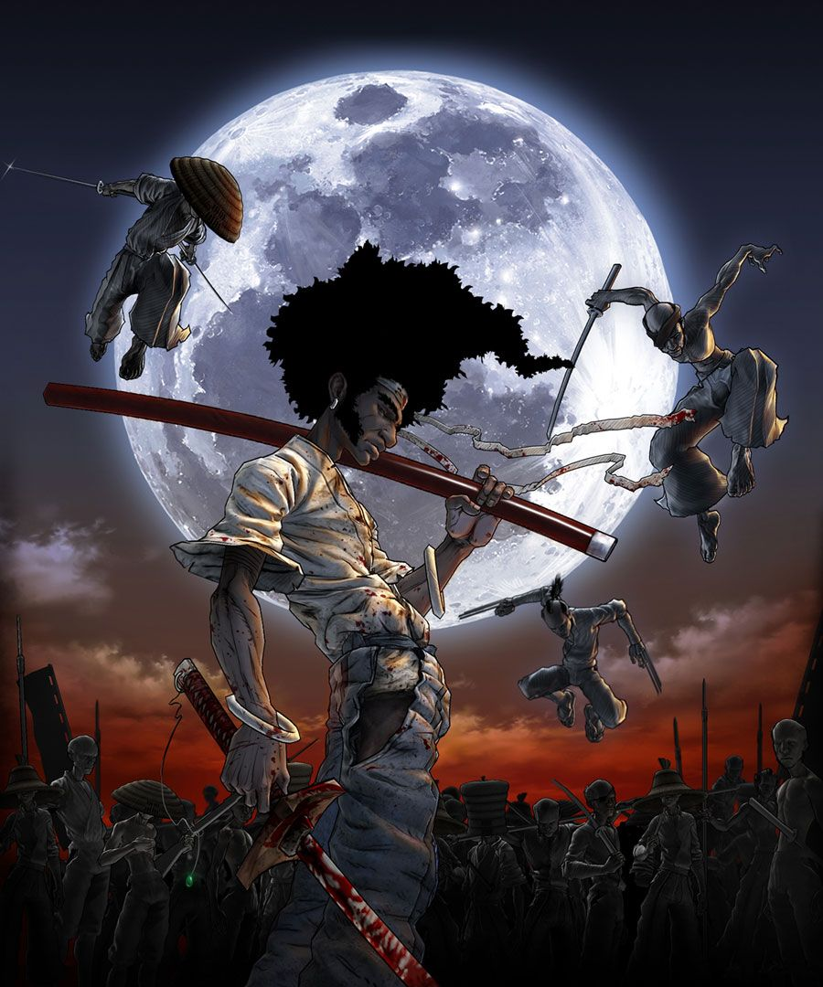Afro Illustration Pictures Characters Art Afro Samurai