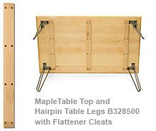 Bon Table Top Flattener Cleats. Add To Custom Table In The Laundry Room..  Prevents Bowing.