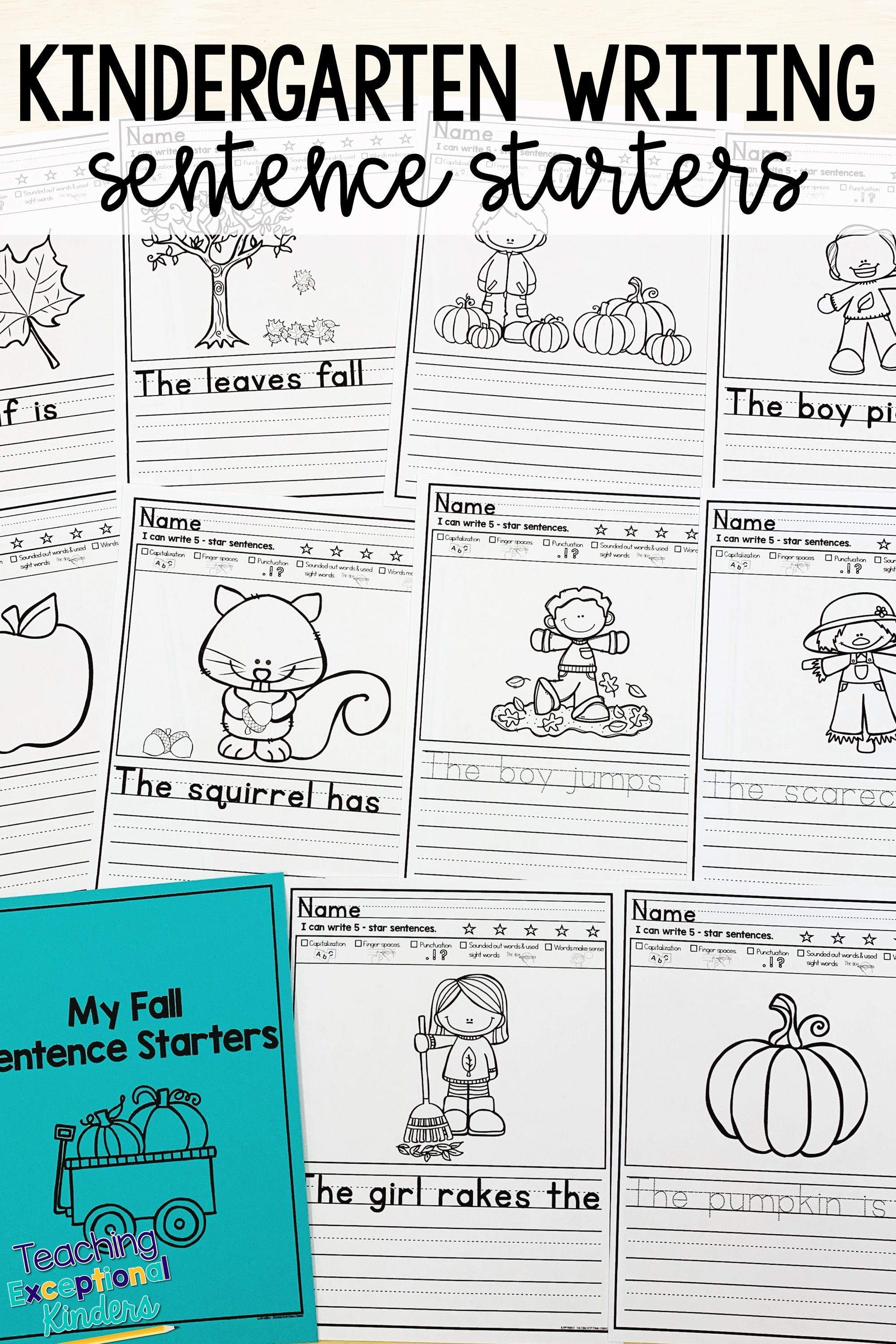 Fall Picture Writing Prompts Sentence Starters