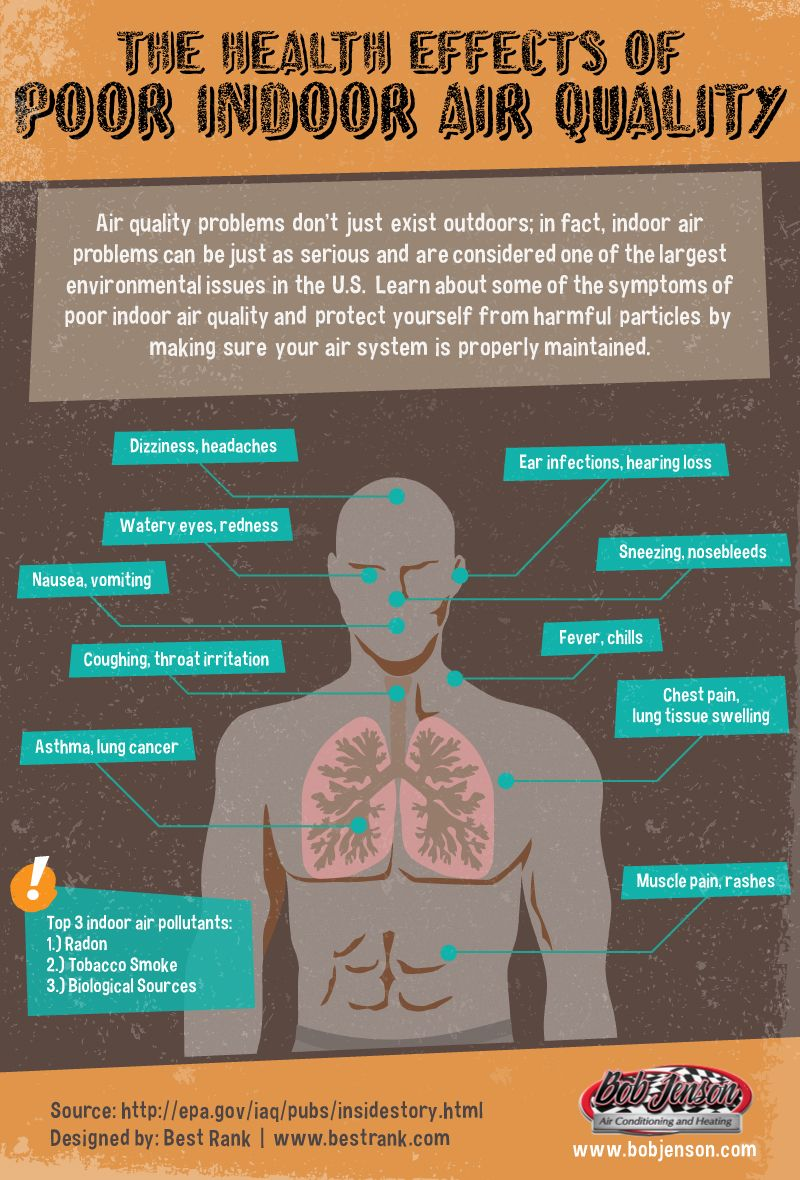Health Effects of Poor Indoor Air Quality Infographic