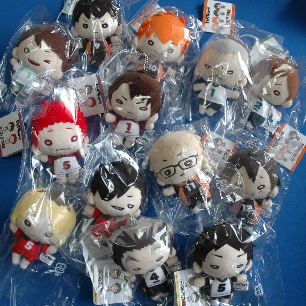Haikyuu Plush Doll With Key Chain Kageyama Kuroo Akaashi Bokuto Ushiwaka Plush Dolls Haikyuu Kawaii Shop
