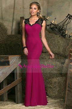 2016 cuello en V vestidos de baile sirena / Spandex longitud del piso US$ 149.99 VTOPJ2C8FF6 - vestidobello.com