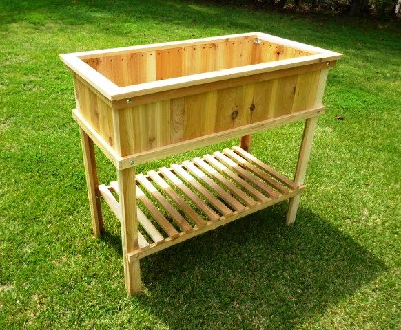 Woodworking Plans - Cedar Raised Garden Planter. Illustrated Plans