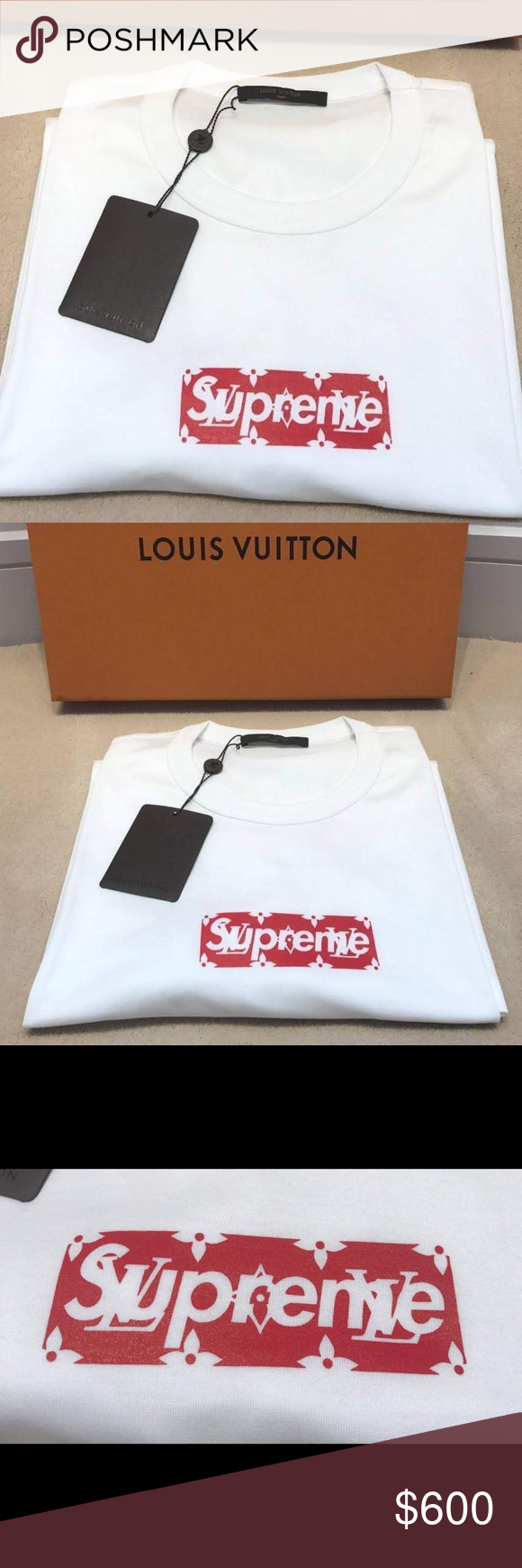 1dcf30ca7918 Supreme x Louis Vuitton Box Logo Tee Brand New in Box! Comes with tags  Comes with reciepts 100% Authentic   Legit Offers are dAccepted Trades are  Accepted ...