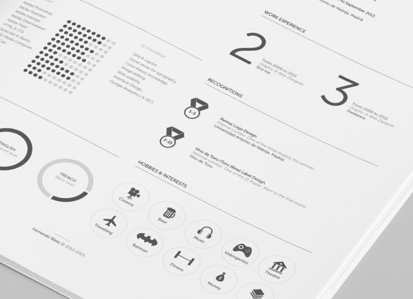 this designers stylish minimalist rsum template is now free to download designtaxicom logo design branding pinterest resume design - Minimalist Resume Template