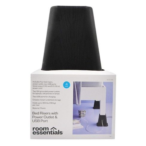 Best Usb Power Bed Risers Room Essentials™ With Images 400 x 300