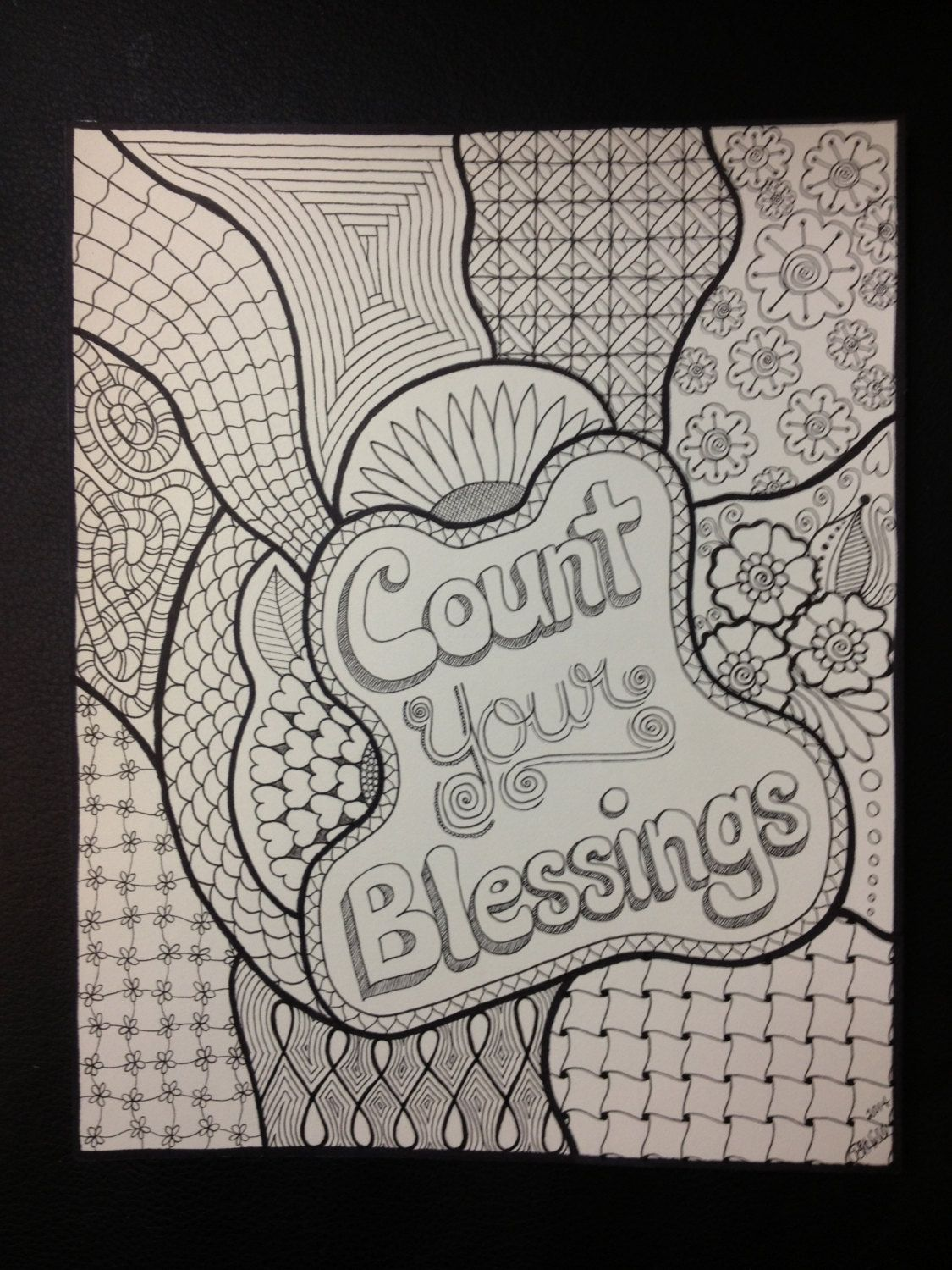 Count Your Blessings Zendoodle By Plhill
