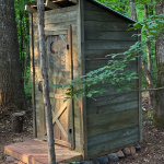 DIY Wood Outhouse