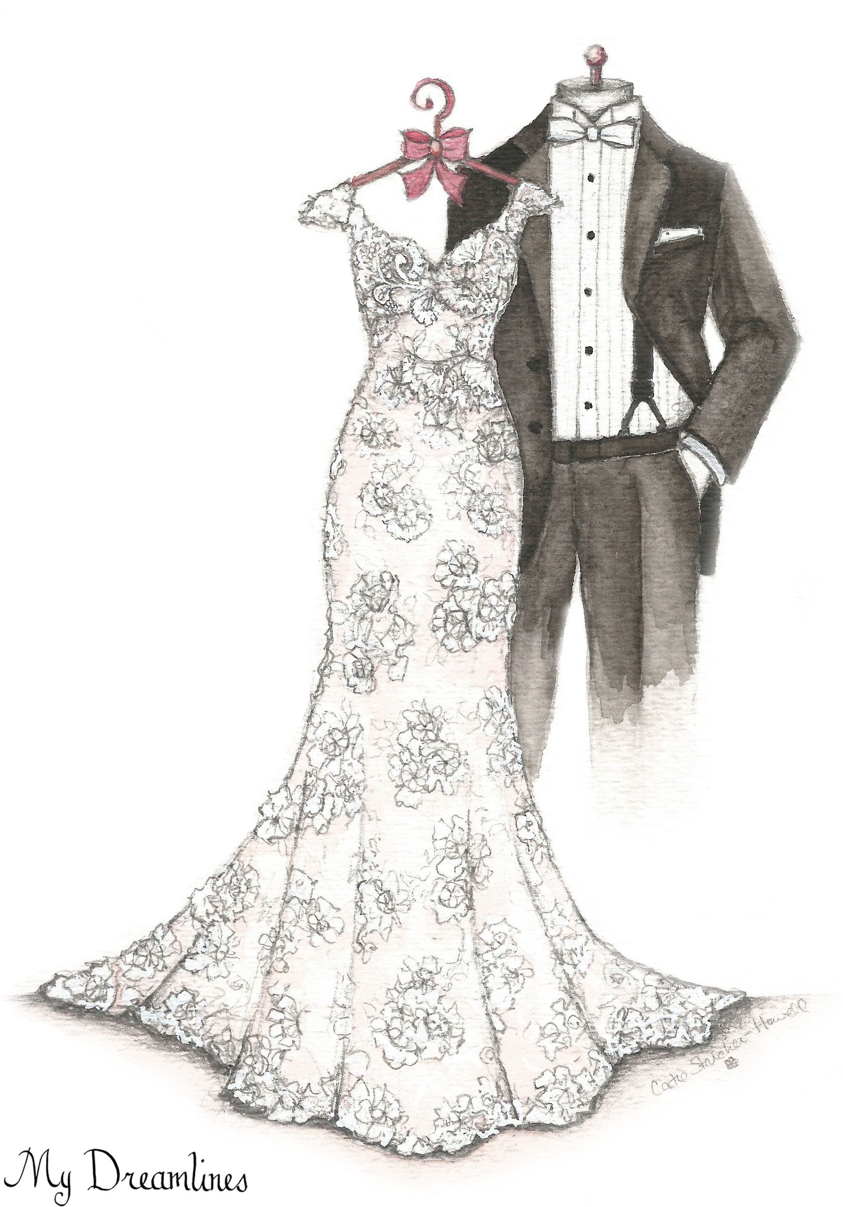 My Dreamlines Wedding Dress Sketch