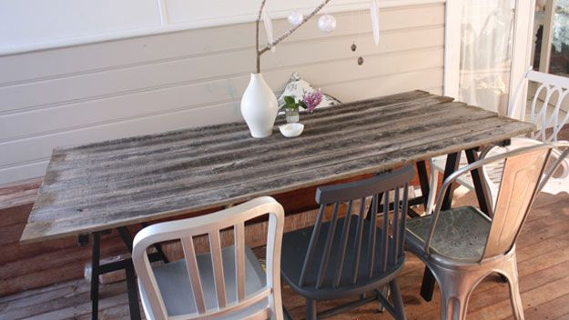 Sgabello framar ~ Make your own table out of fence palings projects pinterest