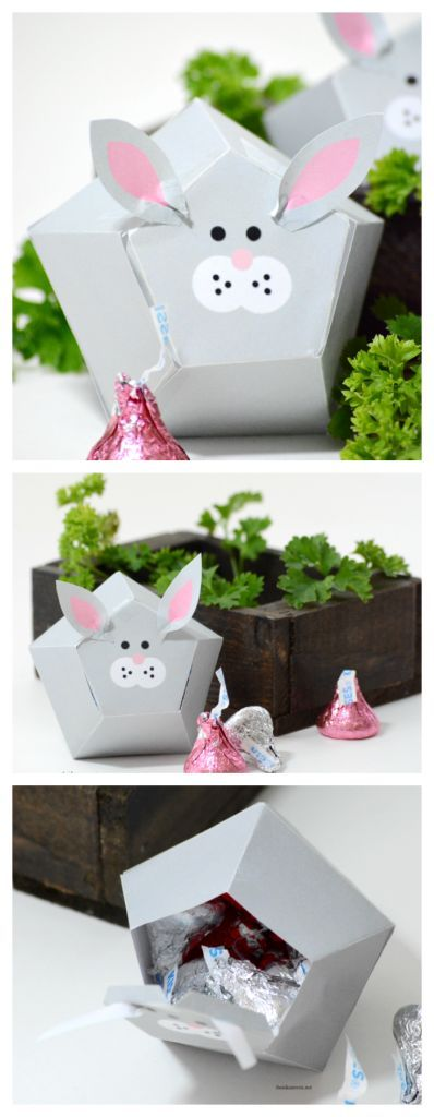 Easter bunny treat box box templates easter bunny and free easter bunny treat box negle Images