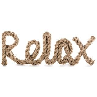 Get Into Island Mode With This Relax Word With Jute Rope Accent This Brown Nbsp Mdf Wall Plaque Features A Fu Word Wall Art Beach House Decor Lake Beach House