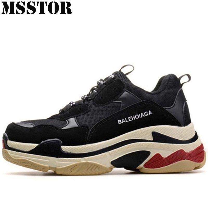 1904e9b6d MSSTOR primavera 2018 hombres zapatos amantes zapatos deportivos para las  mujeres de gran tamaño 35-