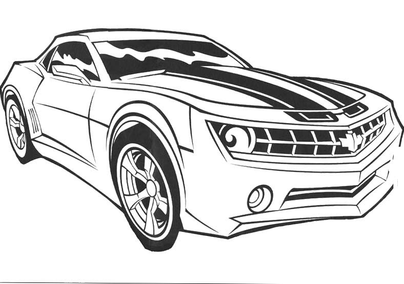 Car Of The Bumblebee Coloring Pages Cars coloring pages