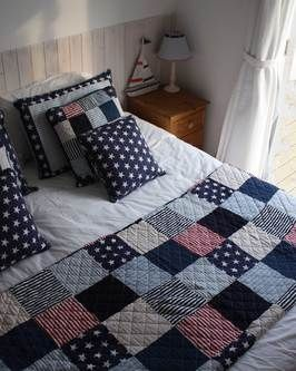 cape cod quilted throw from Beachhut.co.uk.