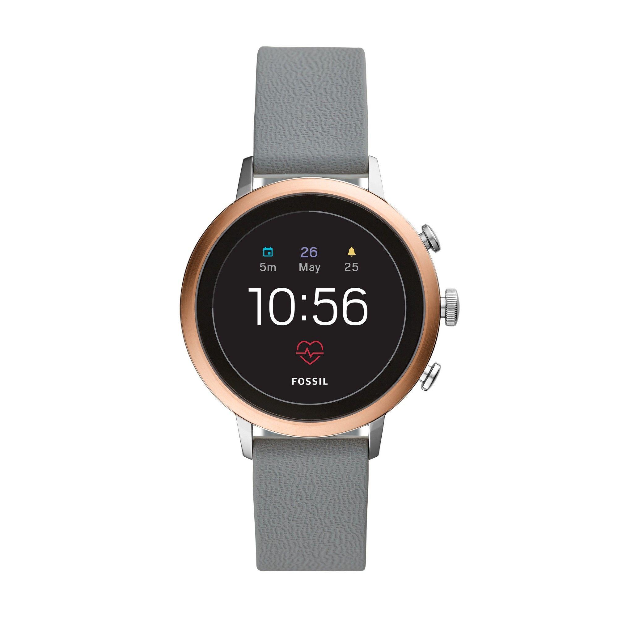 Fossil Gen 4 Smartwatch Venture HR 40mm Gray Silicone