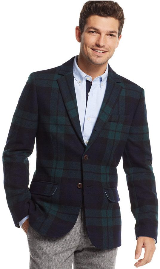 d7019777c01 Tommy Hilfiger Black Watch Plaid Blazer. Buy for  299 at Macy s. Navy Blazer  Men