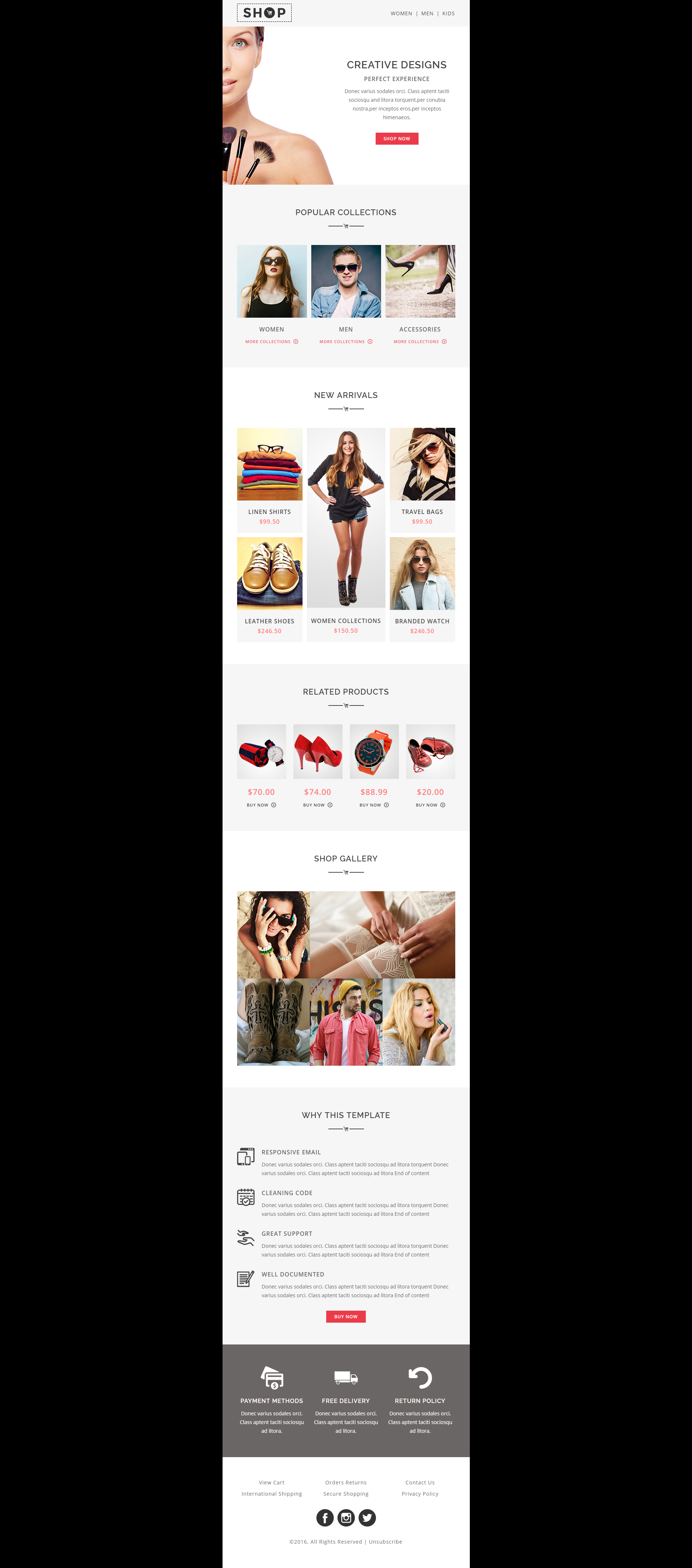 Responsive Shopping Email Template Suitable For Any Kind Of