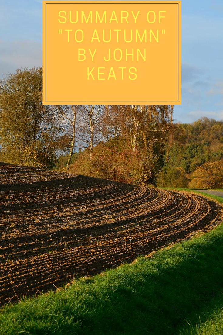 john keats poem to autumn