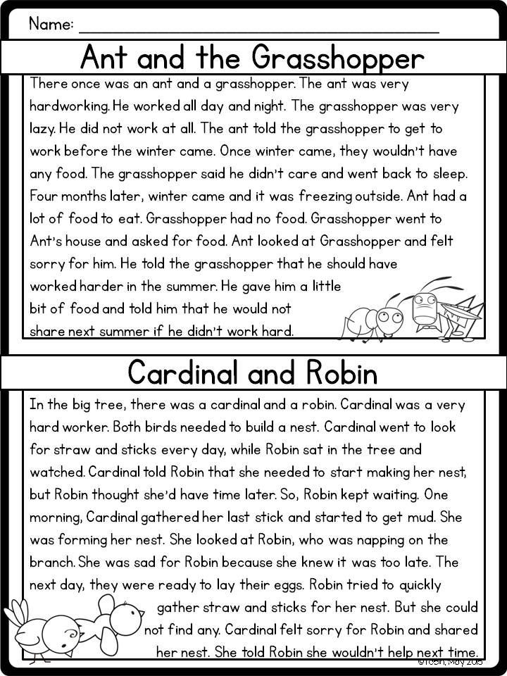 Printable Worksheets the grasshopper and the ant worksheets : Compare and Contrast RL2.9 | Literacy, Activities and Language